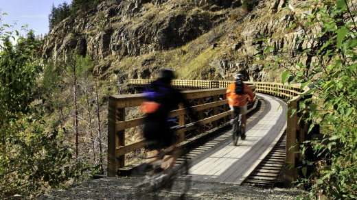Resort break: Cycling across the old Kettle Valley Railway Line.