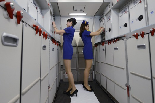 Skymark has faced criticism over its flight attendants' short skirts.