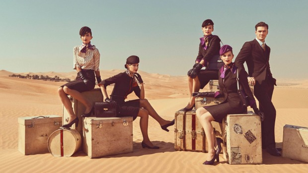 Etihad Airways latest uniforms for its crew, launched last year.