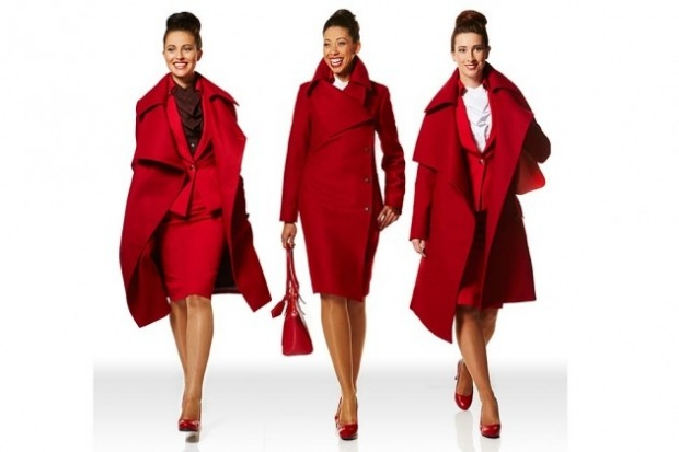 Virgin Atlantic used Vivienne Westwood to come up with a tailored look with accents in the airline's signature red.