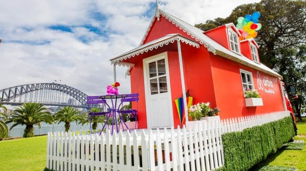 White picket fences: Airbnb's The Big Gay Stay.