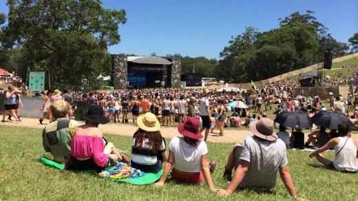 Falls Festival in Byron Bay: Flash Camp's Ben Hutchings says the goal was to make camping a holiday rather than hard work.