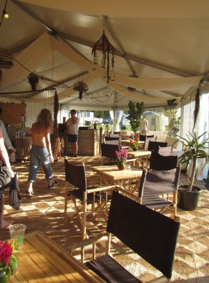 VIP experience: Flash Camps' communal lounge and cafe area.