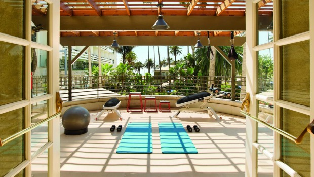 Along with the fitness centre there is a pool at the hotel and lush green gardens.