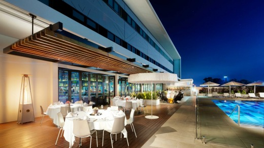 Alfresco dining: Atura Blacktown has a courtyard pool and bar.