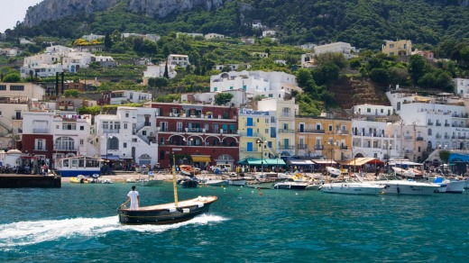Gathering ground of the glamorous: the harbour on the Isle of Capri.