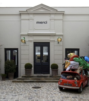 Outside Merci.