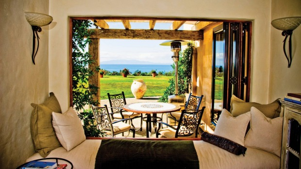 Waiheke Island's wineries and warm weather are reminiscent of Tuscany so it's no surprise to find an Italian farmhouse ...