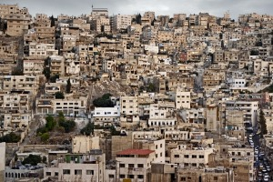 A view of the old downtown cityscape in Amman.