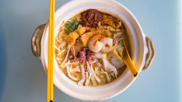 The spicy, soupy, rich coconut seafood broth of a laksa is one of Singapore's great foodie experiences.