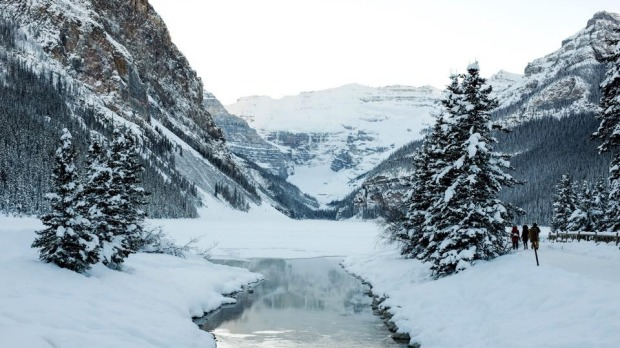 This picture of Lake Louise, in Banff National Park, Canada, was taken in early January of 2015. This photo is so ...