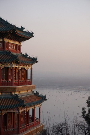 Summer is not the only time one should visit The Summer Palace in Beijing. Taken in January 2015, a great view from ...