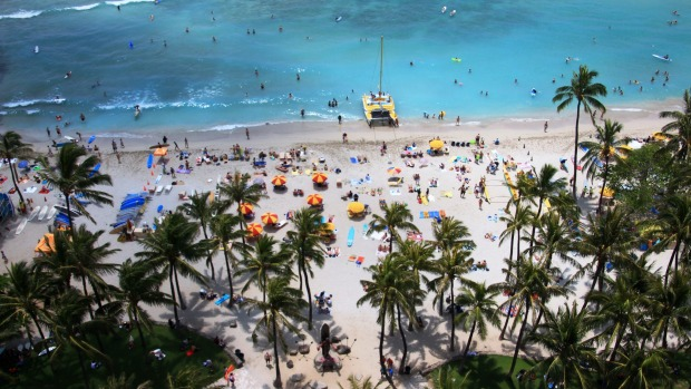 This is Waikiki Beach, Honolulu, where we went in April 2013.  It is a fabulous place with plenty to do or doing nothing ...