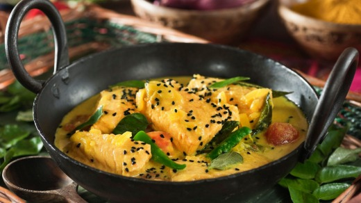 Kerala fish curry.