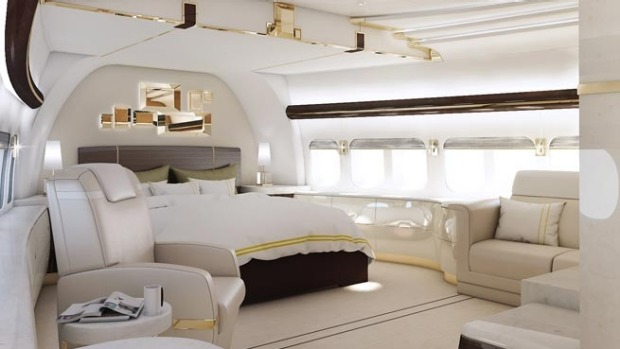 Master suite of a VIP Boeing 747-8.
