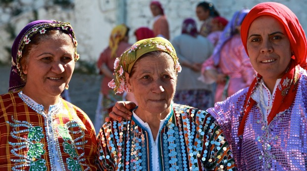 Local Turkish women in a village.