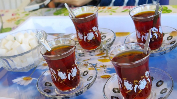Turkish tea.
