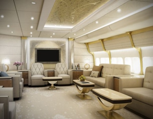 inside the boeing 747 jumbo jet built for a vip