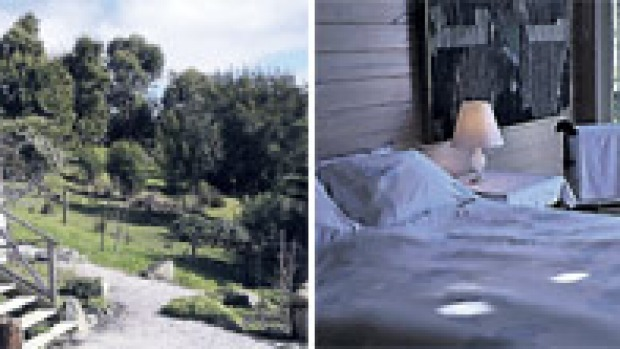 Zesty nest ... Lime Tree Cottage has views across Apollo Bay; the comfortable bedroom.