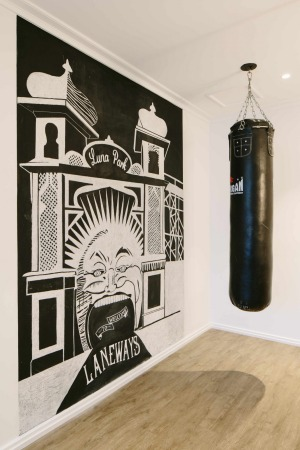 A boxing bag in a Terrace Suite.