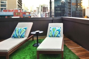 The terrace of the Penthouse.