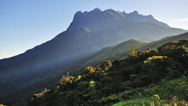 The impressive mass of Mount Kinabalu, on Borneo