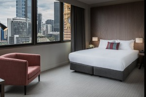 Views over Flinders Street Station make a stay here a must for trainspotters.