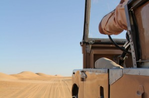 Vintage tour: cruise through the desert aboard a classic 1950s Land Rover.