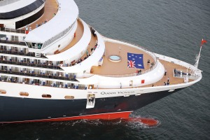 The Queen Victoria on her first visit to Australia in 2008.
