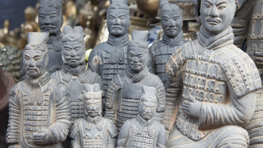The famous terracotta warriors of China.