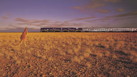 Take a luxury train journey from Sydney to Perth on board the Indian Pacific.