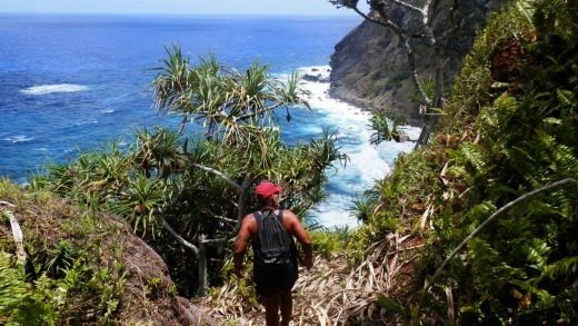 Pitcairn Island offers many secluded, rocky bays for visitors to explore.