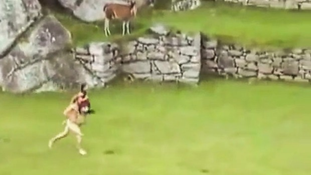 Insensitive streakers at Machu Picchu.