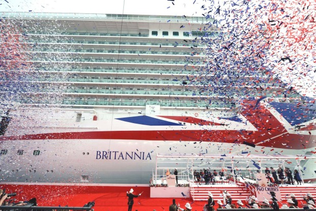 Britannia, P&O Cruises: Launched in March 2015, P&O 's new 143,000-tonne cruise ship with a massive Union Jack on the ...