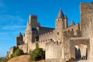 The medieval fortress of Carcassonne in the south of France.