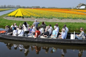 A Keukenhof boat tour through the surrounding tulip fields.