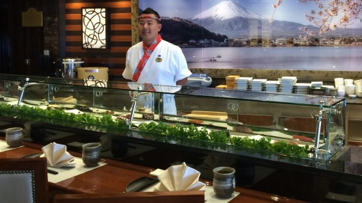 The Kai Sushi restaurant offers a great range of Japanese food.