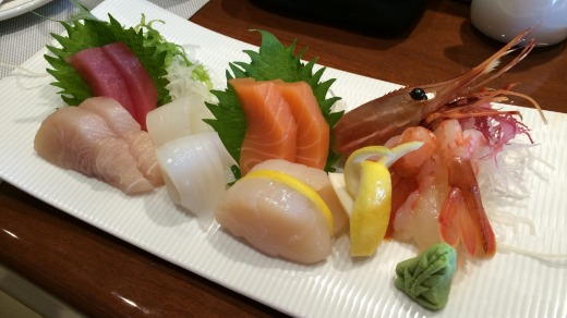 After a visit to the Japanese bathhouse on board the Diamond Princess, try a plate of sashimi.