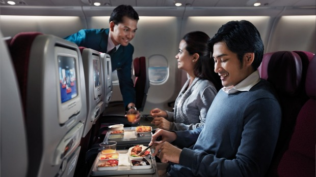 Economy class in Malaysia Airlines Airbus A330-300.