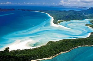 Chilled ... an aerial view of Whitsunday Island.