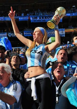 In Argentina football is not a passion ... it's an all-consuming insanity.