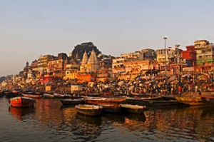the holy city of Varanasi, India