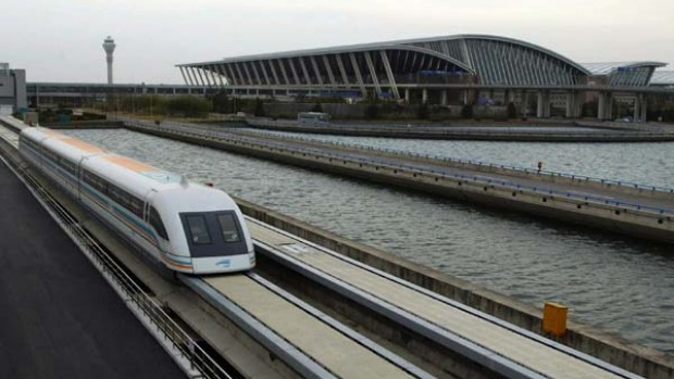 The MagLev can get you to Shanghai's Pudong International Airport in about seven minutes - compared to a travel time of ...