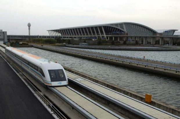 THE FASTEST TRAIN JOURNEY IN THE WORLD: The MagLev can get you to Shanghai's Pudong International Airport in about seven ...