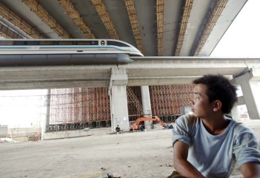 Zoom zoom ... the MagLev offers a smooth ride.