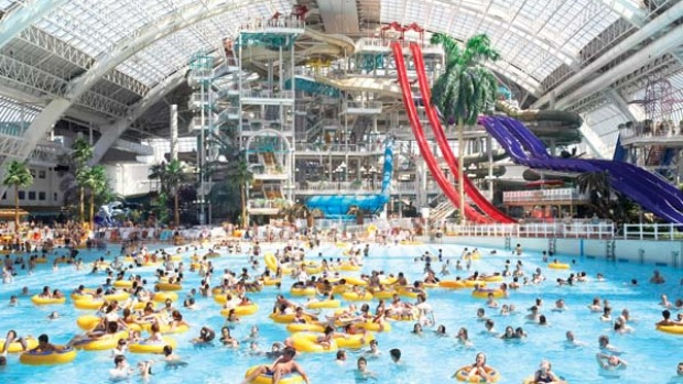 Fun under the ... skylight. World Waterpark .