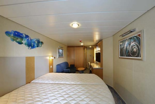 A standard cabin on board Allure of the Seas.