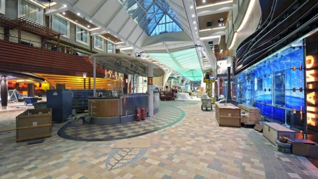 Allure of the Seas' Royal Promenade.