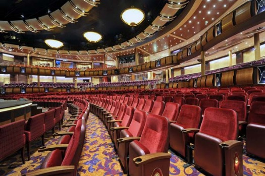 The 1300-seat Amber Theatre on board Allure of the Seas.
