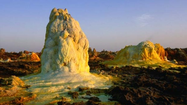 Ethiopia's Danakil Depression - the hottest place on the planet with an average annual temperature of 34.4 Celsius.
